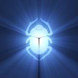Símbolo del egipcio del escarabajo del escarabajo stock de ilustración