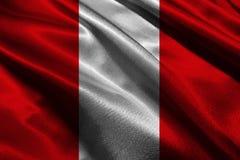 Símbolo del ejemplo de la bandera nacional 3D de Perú Peru Flag Foto de archivo libre de regalías