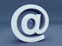 Símbolo del email alias Imágenes de archivo libres de regalías