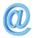 Símbolo del email del pixel Fotos de archivo libres de regalías
