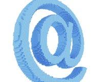 Símbolo del email del pixel Foto de archivo libre de regalías