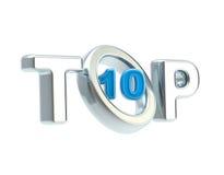 Símbolo del emblema Top-10 aislado Foto de archivo libre de regalías