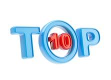 Símbolo del emblema Top-10 aislado Fotografía de archivo libre de regalías
