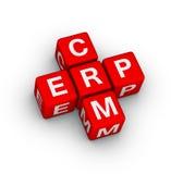 Símbolo del ERP y de CRM Imágenes de archivo libres de regalías