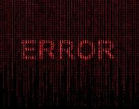 Símbolo del error Foto de archivo libre de regalías