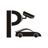 Símbolo del estacionamiento guardado libre illustration