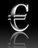 símbolo del euro 3d Imágenes de archivo libres de regalías