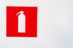 Símbolo del extintor Fotografía de archivo libre de regalías