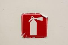 Símbolo del extintor Fotografía de archivo