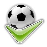 Símbolo del fútbol Imágenes de archivo libres de regalías