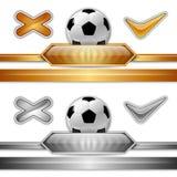 Símbolo del fútbol Fotografía de archivo libre de regalías