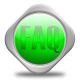 SÍMBOLO DEL FAQ Foto de archivo libre de regalías