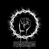 Símbolo del feminismo ilustración del vector
