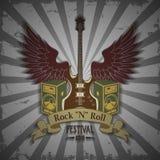 Símbolo del festival de la roca Imágenes de archivo libres de regalías