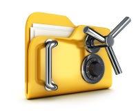 Símbolo del fichero de la seguridad stock de ilustración