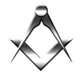 Símbolo del Freemason Fotografía de archivo