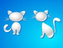 Símbolo del gato - la leche cae vector Foto de archivo libre de regalías