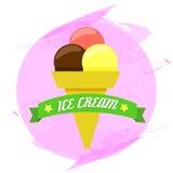 Símbolo del helado Imagen de archivo libre de regalías