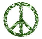 Símbolo del hippie de la paz del diseño del vector de las flores Fotos de archivo