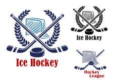 Símbolo del hockey sobre hielo Imagen de archivo