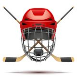 Símbolo del hockey sobre hielo Elementos del diseño Imágenes de archivo libres de regalías
