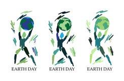 Símbolo del hombre de Eco en fondo del wite stock de ilustración