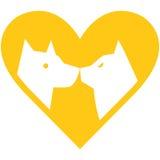 Símbolo del hospital veterinario Imagen de archivo libre de regalías