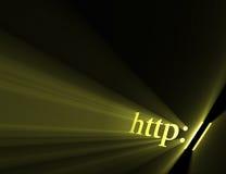 Símbolo del HTTP para el Internet stock de ilustración