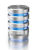 Símbolo del icono de la base de datos del almacenamiento de datos de la unidad de disco duro Fotografía de archivo libre de regalías