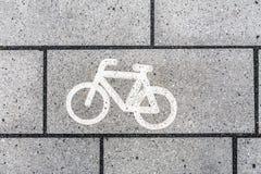 Símbolo del icono de la bicicleta Fotos de archivo
