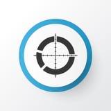 Símbolo del icono de la blanco Elemento dividido en segmentos calidad superior del alcance en estilo de moda Imágenes de archivo libres de regalías
