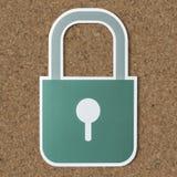 Símbolo del icono de la cerradura de seguridad de la privacidad imágenes de archivo libres de regalías