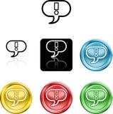Símbolo del icono de la marca de exclamación Fotos de archivo