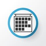 Símbolo del icono del calendario Elemento de información aislado calidad superior de la salida en estilo de moda Imágenes de archivo libres de regalías