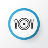 Símbolo del icono del tiempo del almuerzo Elemento aislado calidad superior de la hora de la comida en estilo de moda Imagen de archivo libre de regalías