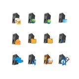 Símbolo del icono del web server de la colección Imagen de archivo