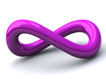 Símbolo del infinito, 3d Foto de archivo