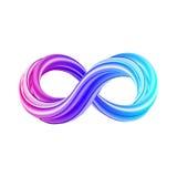 símbolo del infinito 3D Icono colorido del infinito ilustración del vector