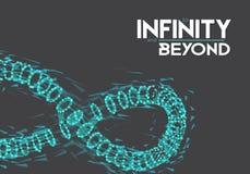 Símbolo del infinito del vector Fotos de archivo libres de regalías