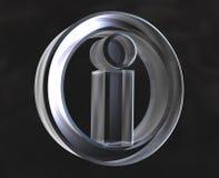 Símbolo del Info en vidrio Stock de ilustración