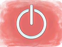 Símbolo del interruptor encendido-apagado de Grunge Fotografía de archivo