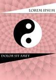 Símbolo del jang de Jin en fondo texturizado rosa libre illustration