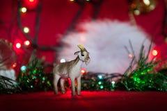 Símbolo 2015 del juguete de la cabra Fotografía de archivo libre de regalías