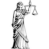 Símbolo del juicio Fotografía de archivo
