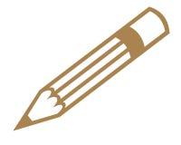 Símbolo del lápiz Imagen de archivo libre de regalías