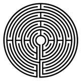 Símbolo del laberinto Imagenes de archivo