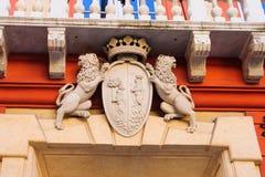 Símbolo del león, Génova Foto de archivo