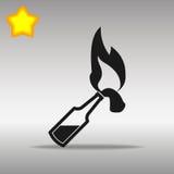 Símbolo del logotipo del botón del icono del negro de Molotov Fotografía de archivo libre de regalías