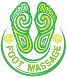 Símbolo del masaje del pie Imagen de archivo libre de regalías