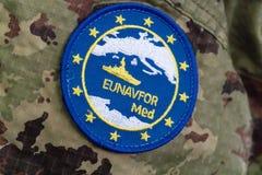 Símbolo del MED de Eunavfor imágenes de archivo libres de regalías